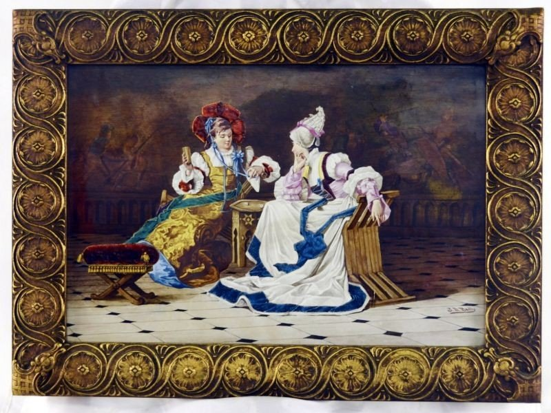 109: French Limoges porcelain Plaque: J. B. Bailly