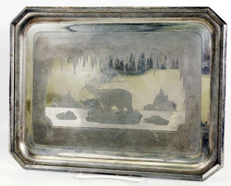 114: Meriden Britannia Victorian Silverplate Tray
