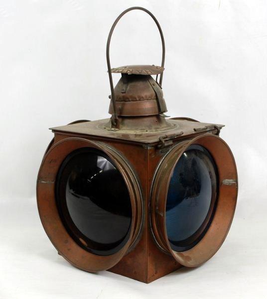 119: NOS Handlan Kerosene Railroad Switch Lamp Lantern