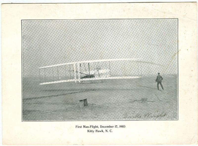 126: Orville Wright, Kittyhawk NC Signed Photo