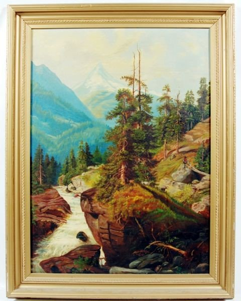 129: Continental Style Mountain Landscape