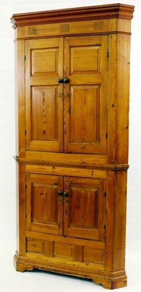 11: Antique Pine Corner Cupboard