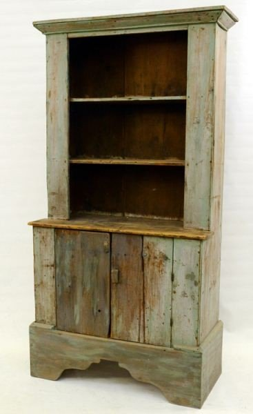 13: Painted Country Pine Stepback Cupboard