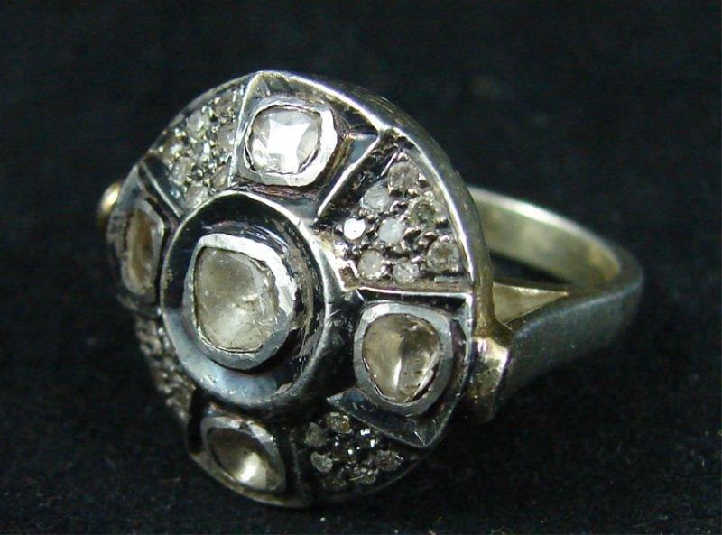 14: Large Rough-Cut Diamond Cocktail ring