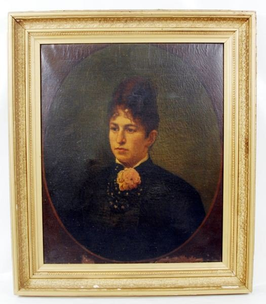 20: 19th C. Itinerant Portrait, unknown sitter