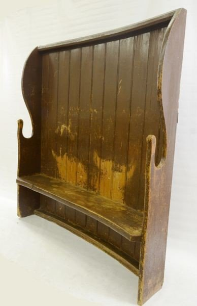 25: Painted Country Fireside Bench / Settle