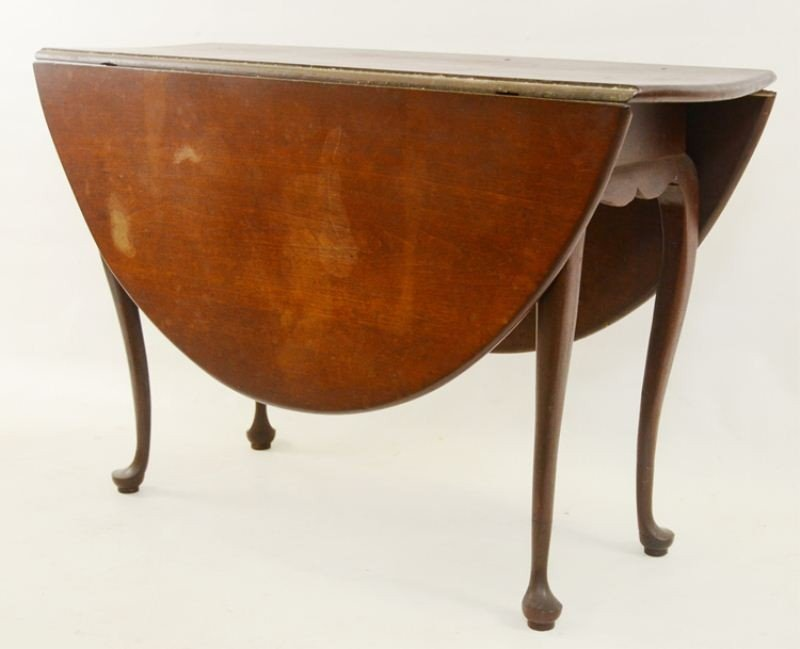 53: Cherry Queen Anne Drop Leaf Table