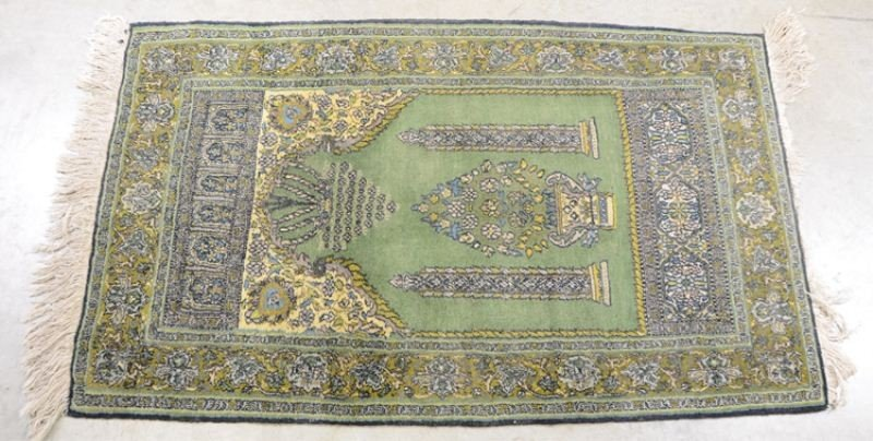 """5: Silk Prayer Rug 50"""" x 30"""""""