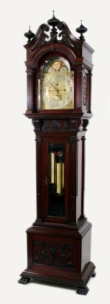 106: Late 19th C. Tiffany & Co Carved Grandfather Clock