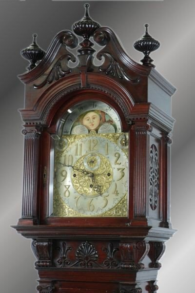 106: Late 19th C. Tiffany & Co Carved Grandfather Clock - 3