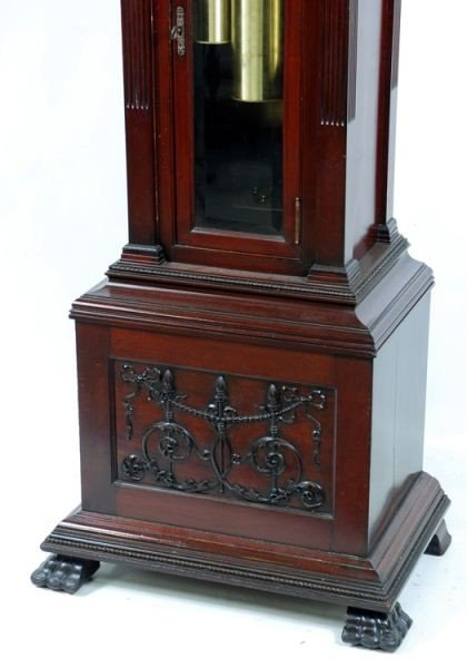 106: Late 19th C. Tiffany & Co Carved Grandfather Clock - 4