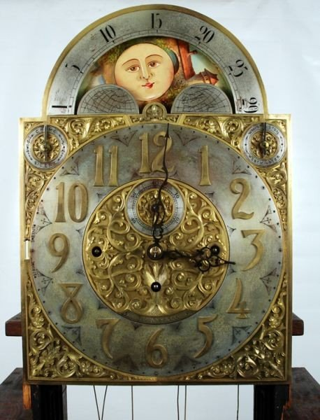 106: Late 19th C. Tiffany & Co Carved Grandfather Clock - 5
