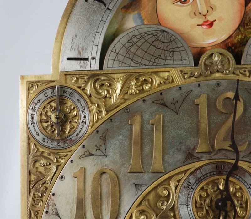 106: Late 19th C. Tiffany & Co Carved Grandfather Clock - 7