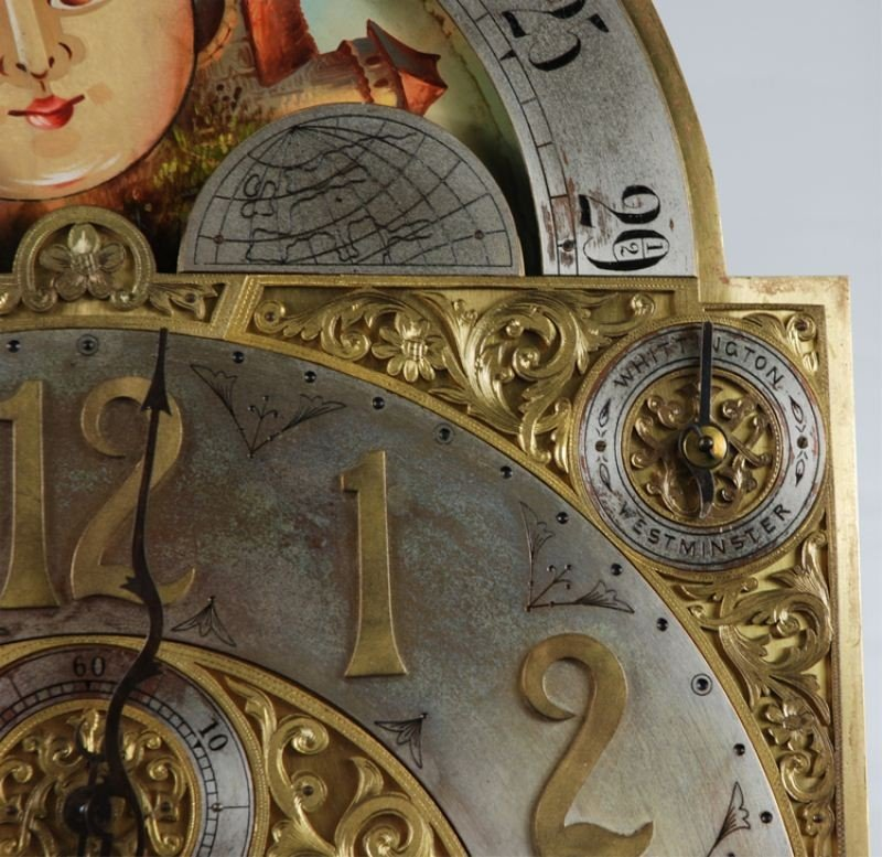 106: Late 19th C. Tiffany & Co Carved Grandfather Clock - 8