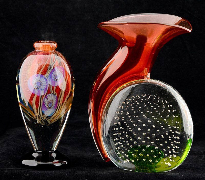 3: Two Pieces of Contemporary Studio Art Glass