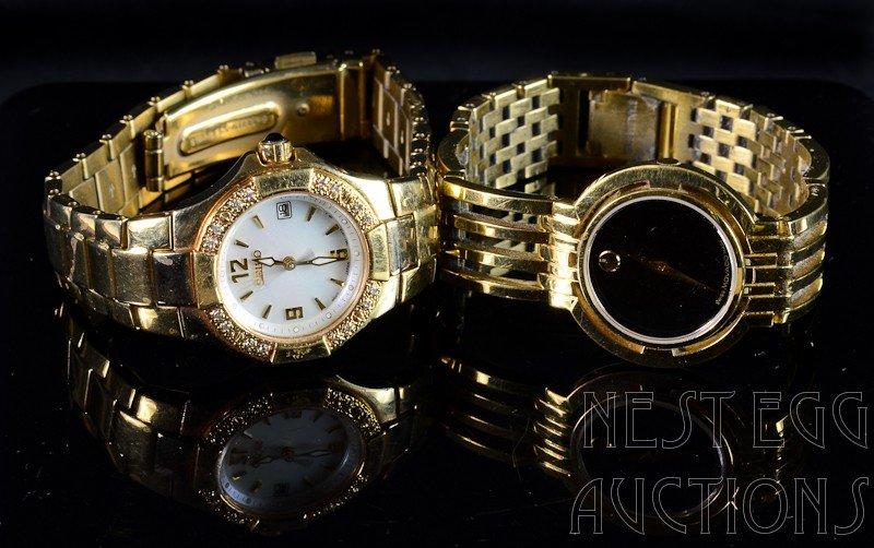 6: Two Ladies Goldtone Wristwatches