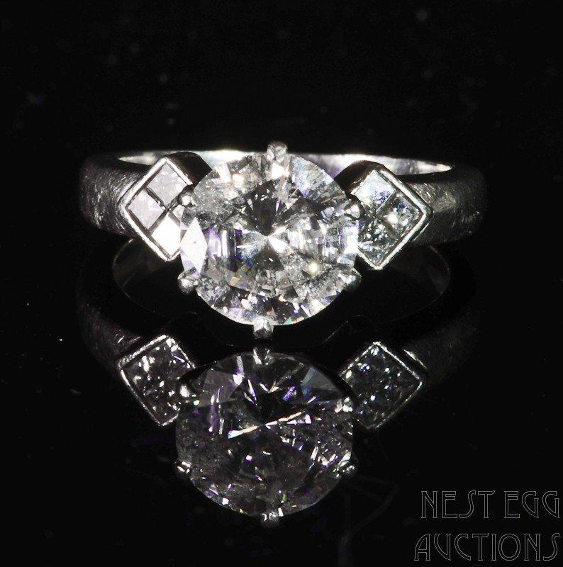 10: Platinum Tiffany Style Diamond Solitaire Ring