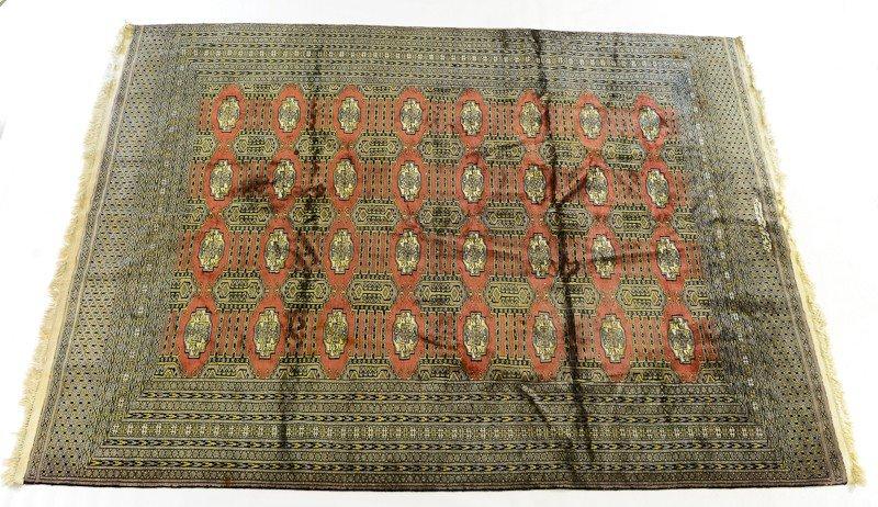 14: Handmade signed Wool Bokhara rug / carpet