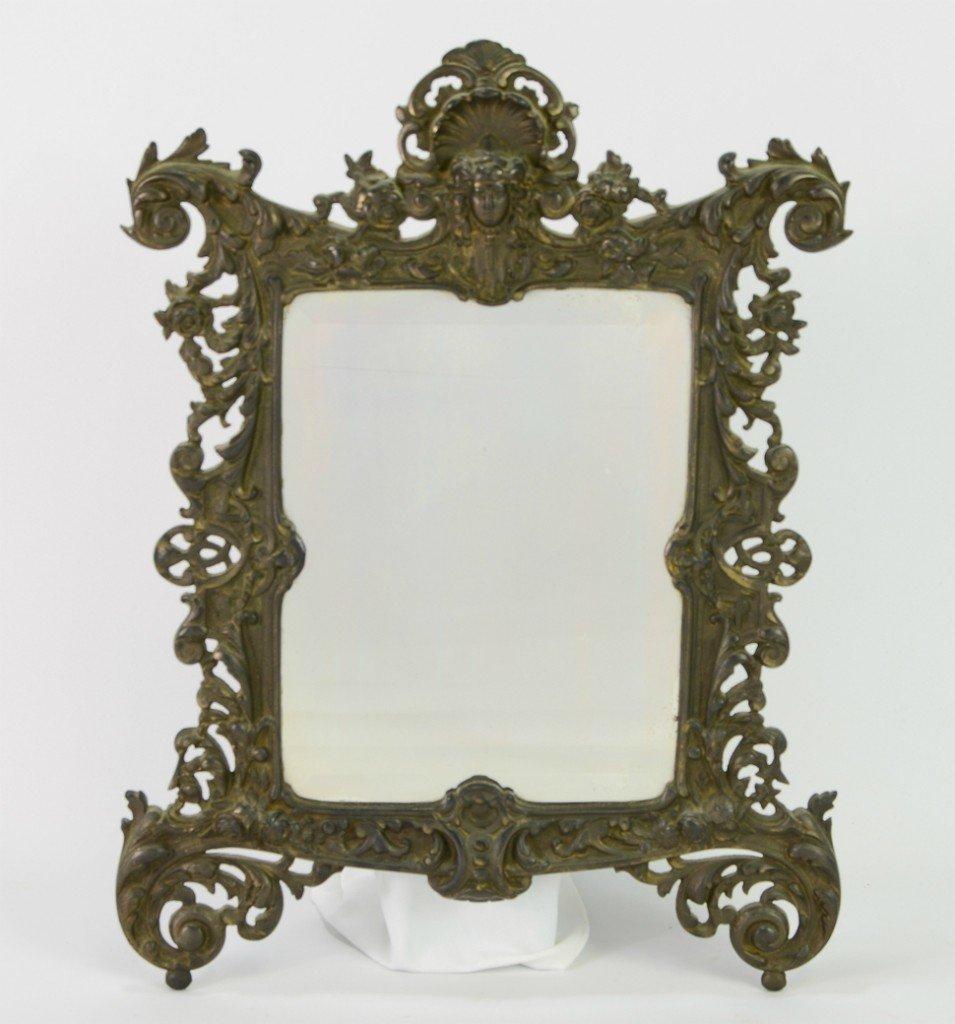 23: Bradley & Hubbard Cast Iron Victorian Mirror