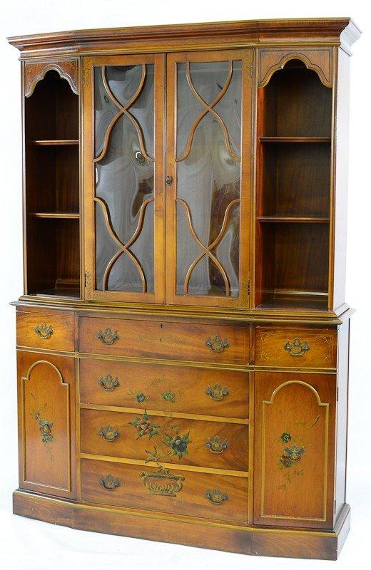 24: Saginaw Furniture Reproduction Mahogany Breakfront