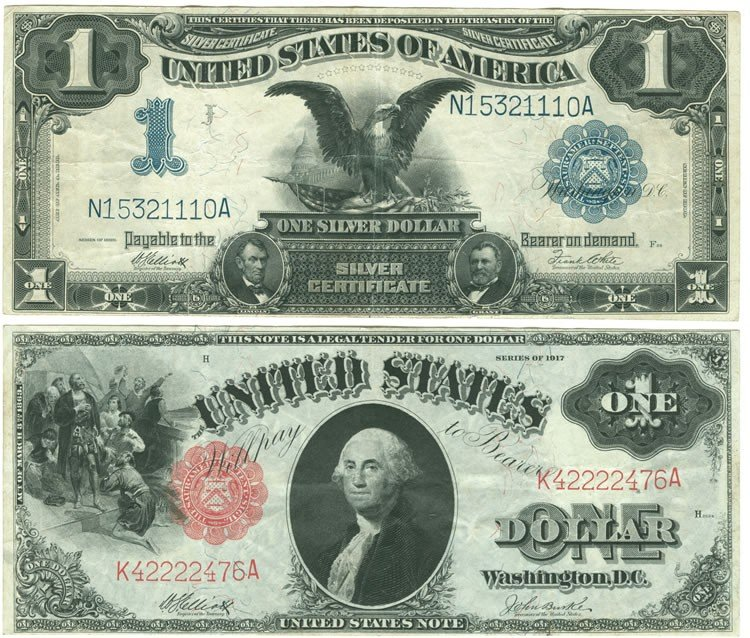 30: Group of Two $1 US Notes