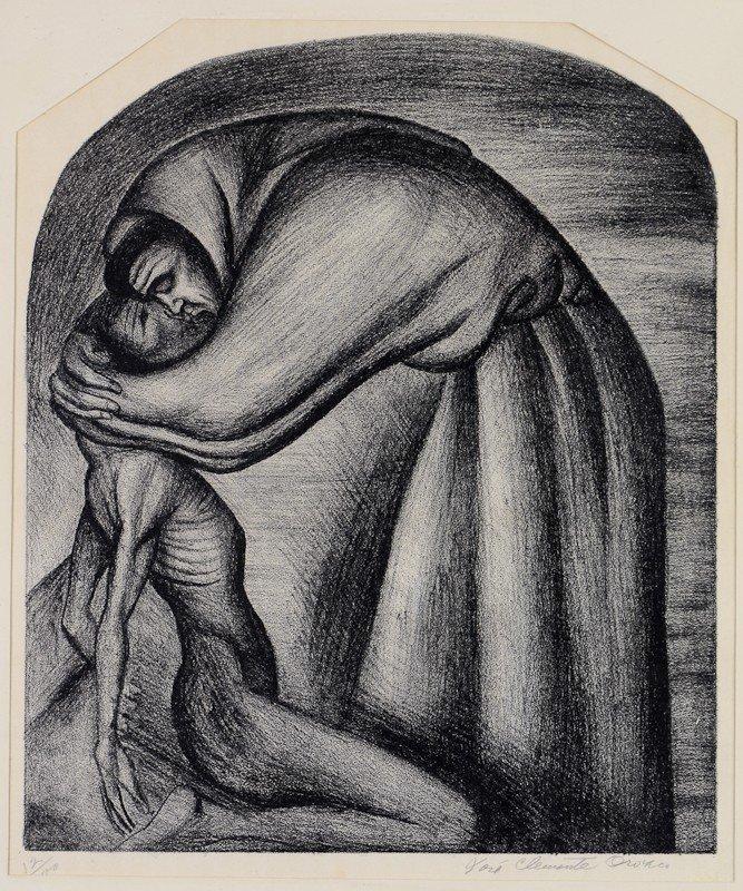 98: Jose Clemente Orozco Lithograph