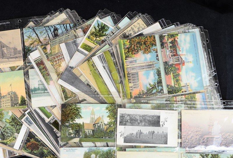 194: Lot of over 150  Hartford Connecticut postcards