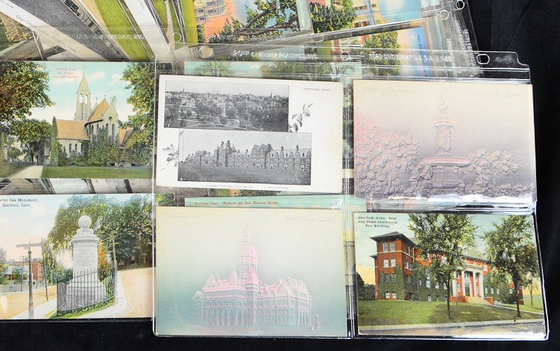 194: Lot of over 150  Hartford Connecticut postcards - 2