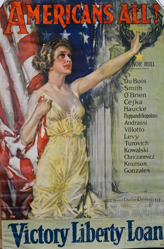 WWI Howard Chandler Christy Liberty Loan Poster
