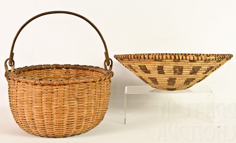 Two Hand woven American Baskets