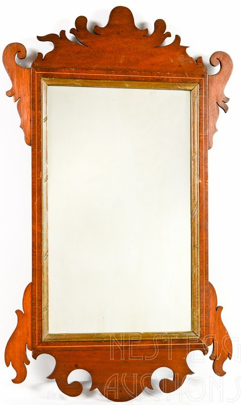 Chippendale Inlaid wall mirror