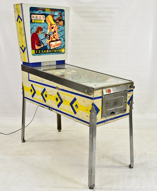 """Gottlieb """"PlayMates"""" 1960's Pinball Machine"""