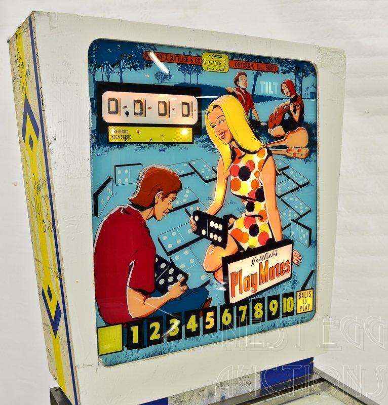 """Gottlieb """"PlayMates"""" 1960's Pinball Machine - 2"""