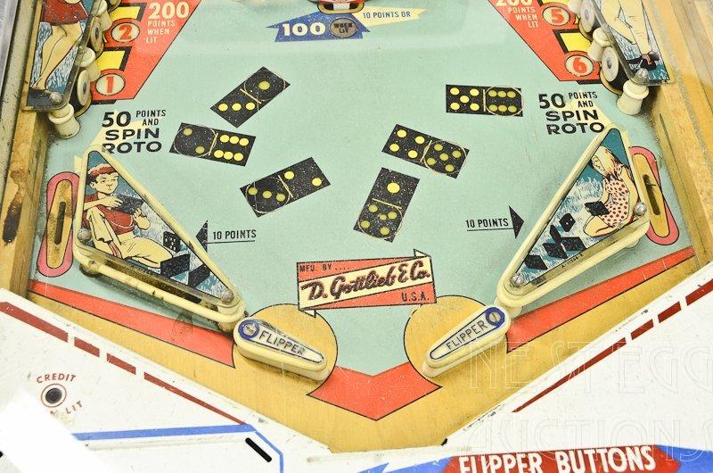 """Gottlieb """"PlayMates"""" 1960's Pinball Machine - 3"""