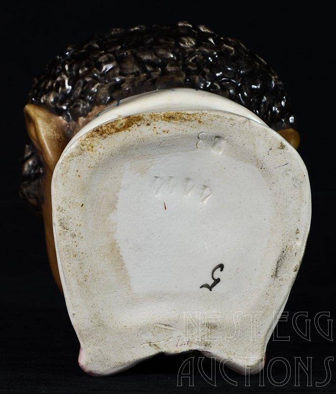 Majolica Black Americana Figural Tobacco Humidor - 3