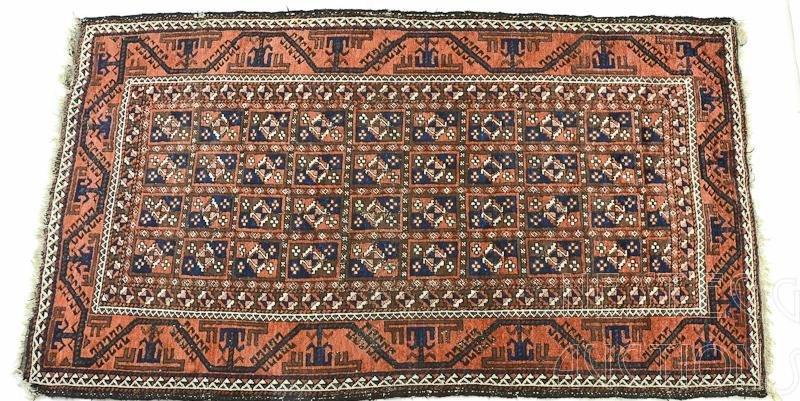 Persian Geometric Rug / Carpet possibly Turkoman