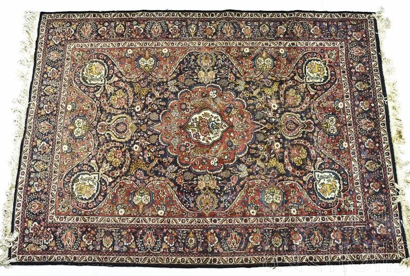Persian Tabriz Rug / Carpet with Animal Motif