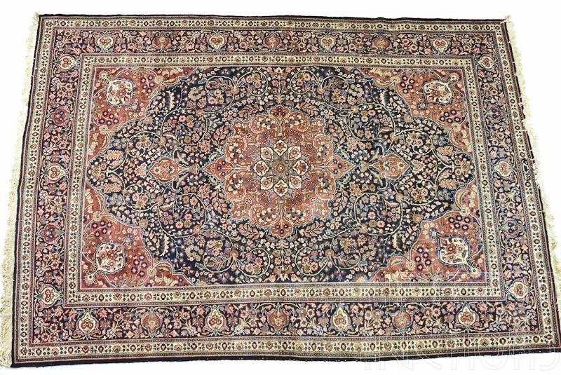 Persian Kerman Medallion Rug / Carpet
