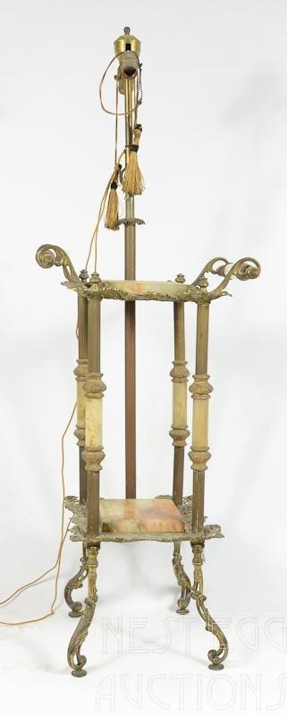 Post Victorian Bradley & Hubbard Style Lamp Stand