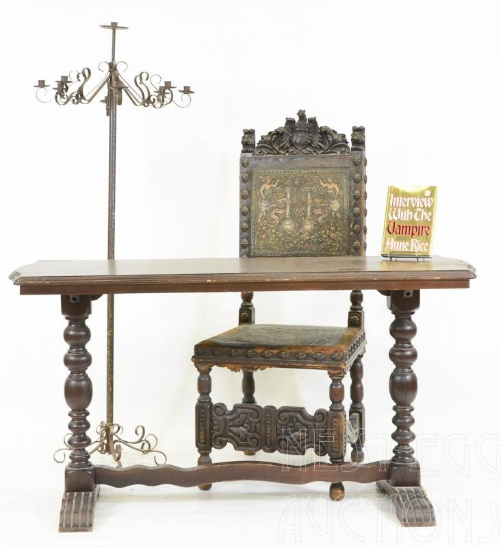 Signed Ann Rice Gothic Furniture and Book