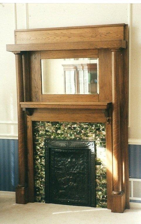 iron u0026 tile victorian fireplace mantle