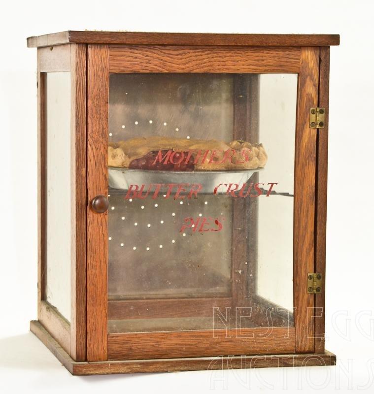 Hand Made Oak Counter Display Pie Safe