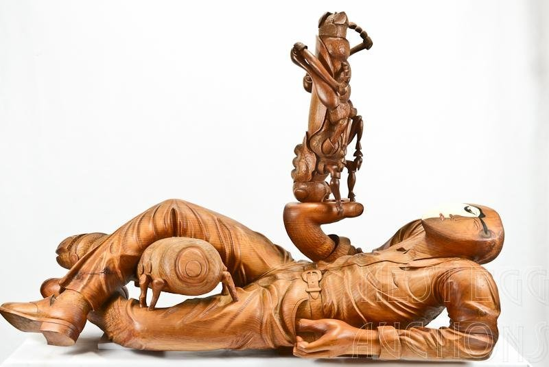 William Kent: Nature Lover #4 Carved Wood Sculpture