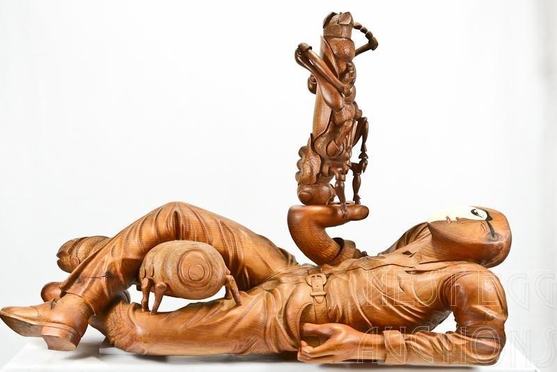 William Kent: Nature Lover #4 Carved Wood Sculpture