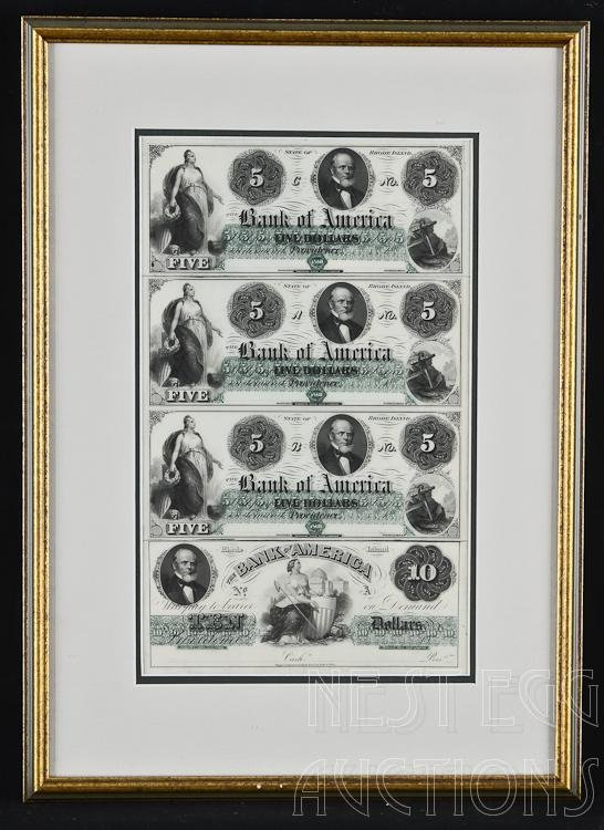 Uncut Sheet Of Obsolete State Of Rhode Island Currency