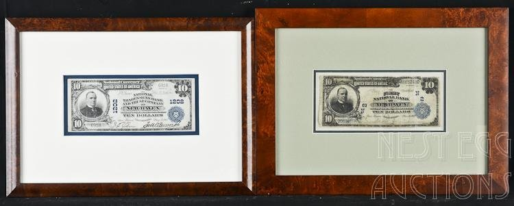 Two National Currency $10 Notes New Haven CT Banks