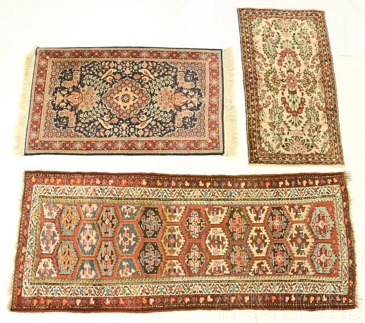 3 oriental throw rugs