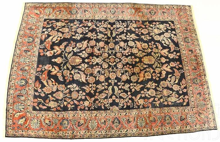 Semi Antique Persian Wool Room Size Carpet