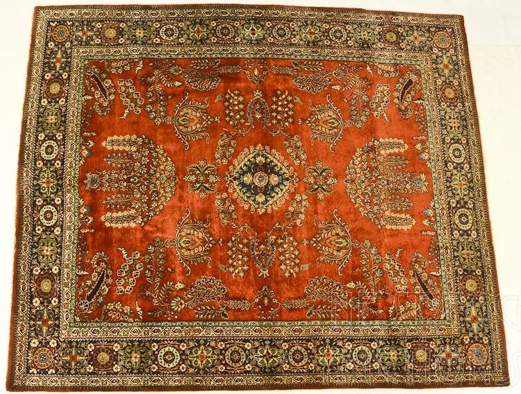 Persian Wool Room Size Rug / Carpet Possibly Sarouk
