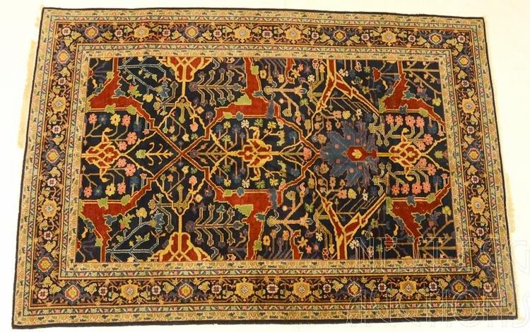 Persian Wool Oriental Rug: Blue Ground, Possibly Heriz